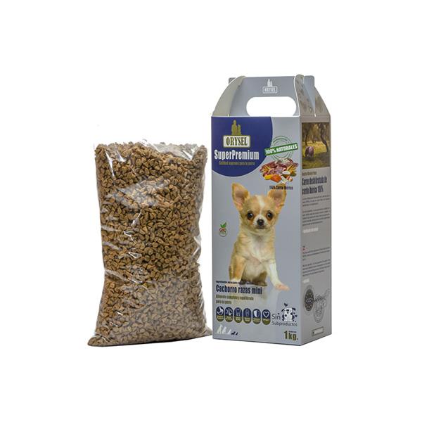 Pienso Orysel Cachorros razas mini 1 kg imagen principal caja