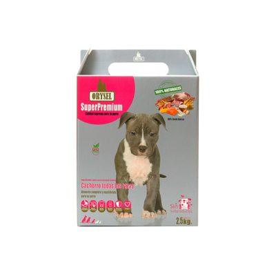 Pienso Orysel Cachorros todas las razas 2,5 kg imagen frontal caja