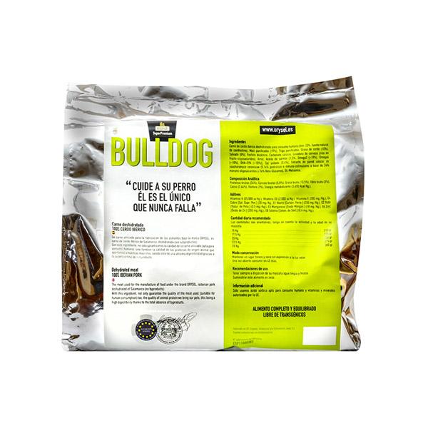 Pienso Orysel Bulldog 4 kg imagen trasera saco